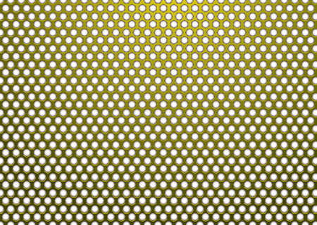 Gold metal background with hexagon white hole in surface Stock Photo - 6648355