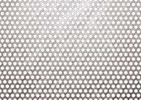 silver metal background with brushed surface and white holes Stock Photo - 6648364
