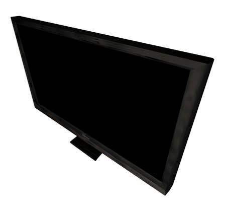 dvi: Modern flat screen television viewed from an angle