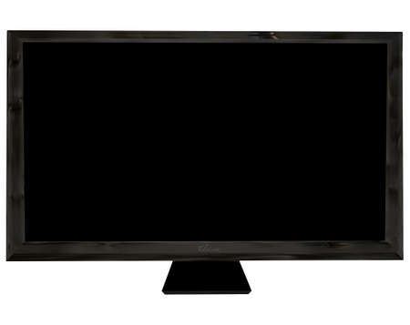 dvi: Modern black flat screen  with room to add your own image