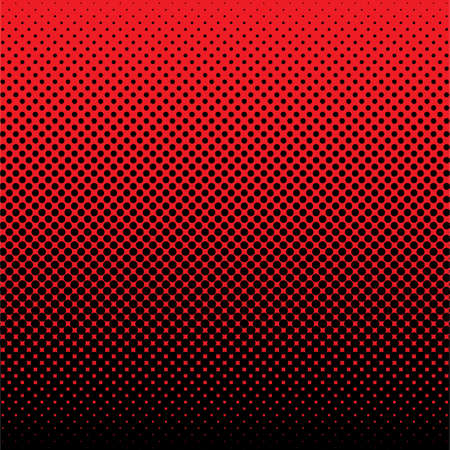 red spot: red and black abstract halftone dot background ideal wallpaper Stock Photo