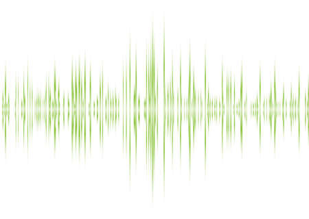 equaliser: music graphic equaliser inspired background in green and white