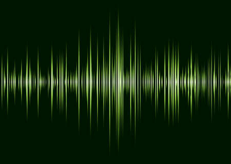 Black and green music inspire graphic equalizer wave and black background photo