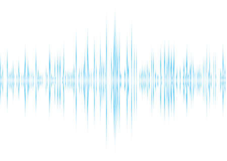sound wave: Music graphic equalizer with blue read out and white background