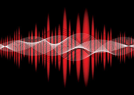 equaliser: Music inspired graphic equaliser background with wave effect Stock Photo