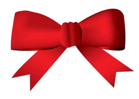 loop: Arco de la cinta roja atado en un nudo presente ideal y el concepto de regalo