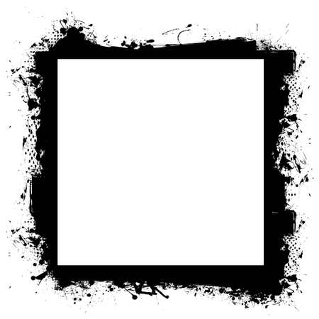 digital frame: Abstract black grunge border frame with room to add your own photograph