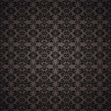 Black gothic repeating seamless wallpaper background design concept Standard-Bild