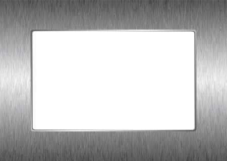 Modern abstract silver metal picture frame or border Stock Photo - 6968772