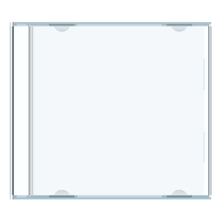 dvd case: White blank music cd case with room to write your own text