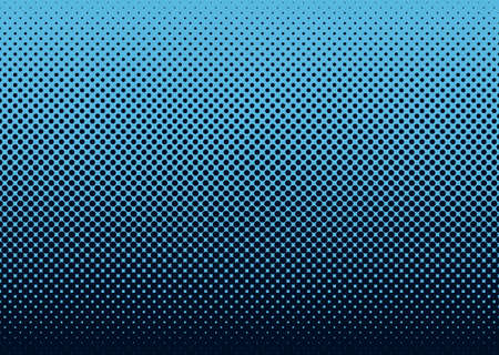 halftone: Seamless halftone dot pattern background with blue