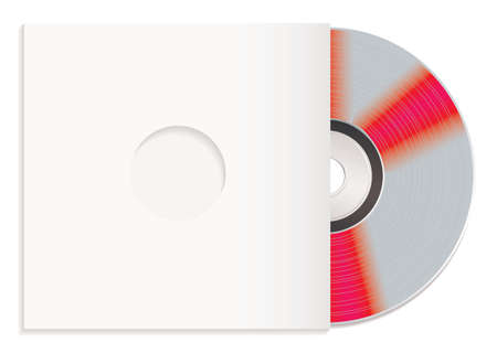 paper case: Silver shiny silver cd with white paper case