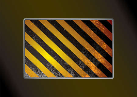 Abstract warning stripe background with grunge effect Stock Photo - 7130505