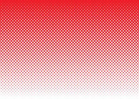 Red background with white halftone dot gradient concept Standard-Bild