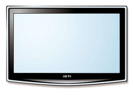 Modern LCD television technology concept with white blank screen Stock Photo - 7223413