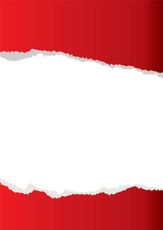 copyspace: red abstract paper torn background with white copyspace