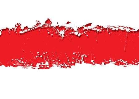 Blood red background with white grunge ink splat banner photo