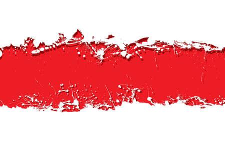 Blood red background with white grunge ink splat banner photo