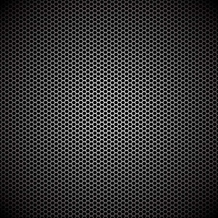 perforated: Hexagon metal background with light reflection ideal wallpaper