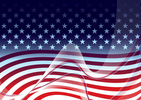 American abstract stars and stripes background concept illustration Standard-Bild