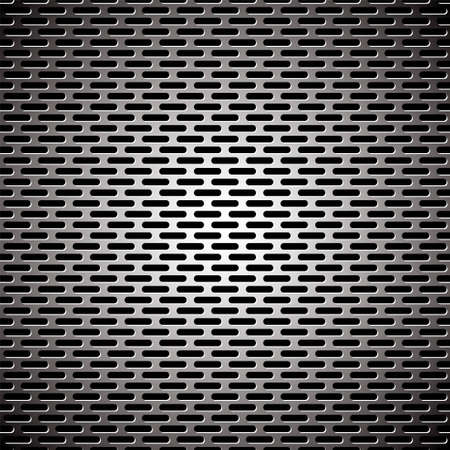 elongated: Silver metal background with elongated grill slots and light reflection