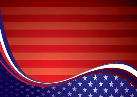 American inspired background illustration with stars and stripes illustration