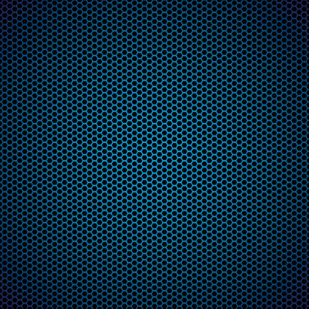 Abstract blue metal hexagon background with honeycomb effect