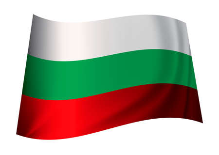 contry: bulgarian flag icon from the contry of bulgaria in white green and red