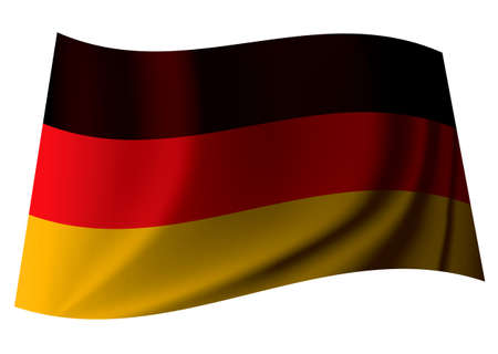 crease: german banner flag from the nation of germany with crease