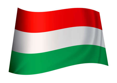 hungarian flag icon from the country nation of hungary