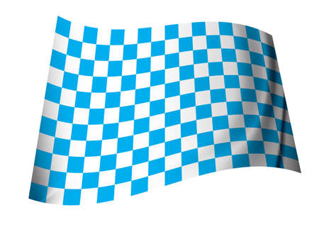 Blue and white motor racing inspired checkered flag icon Stock Photo - 7635543