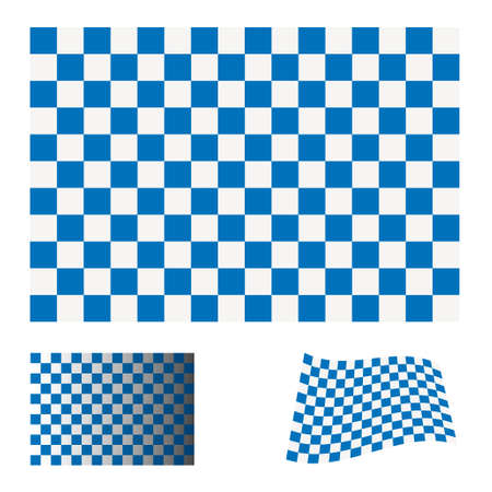 blue and white checkered flag icon ideal racing concept Stock Photo - 7635539