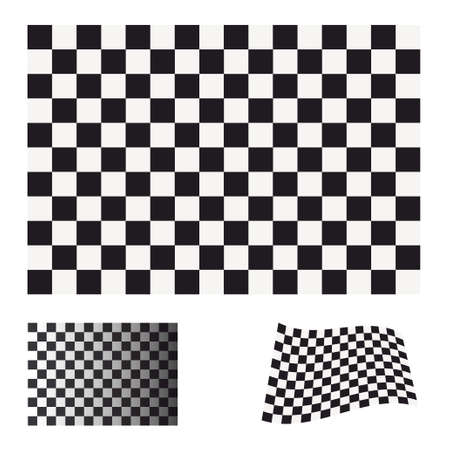 Black and white checkered flag concept ideal icon or symbol Stock Photo - 7635534