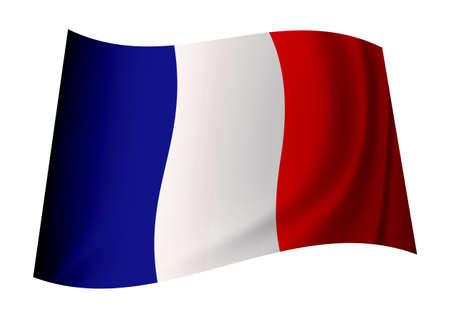 tricolour: french flag icon with tricolour red white and blue colours