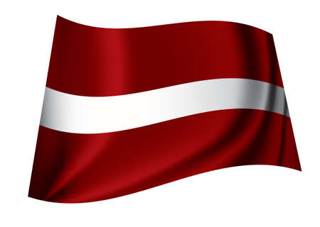 Flag of the latvian nation ideal symbol or icon in red and white Stock Photo - 7635496