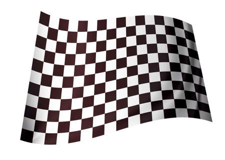 black and white motor racing checkered flag concept icon Stock Photo - 7635532