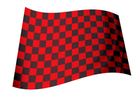 racing inspired red and black checkered flag concept icon Stock Photo - 7635507