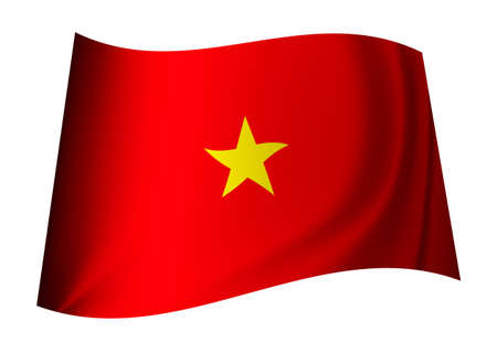 Vietnam flag concept with red background and yellow star photo