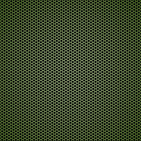 Illustrated Abstract green hexagon seamless tile black background photo