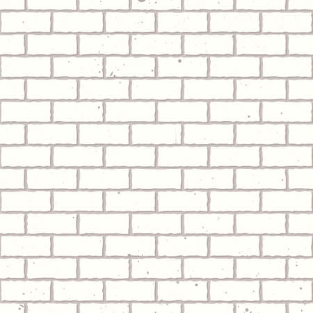 wall textures: White seamless brickwall with repeating pattern design grunge Stock Photo