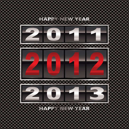 new year counter: Modern carbon fiber background with 2012 new year counter