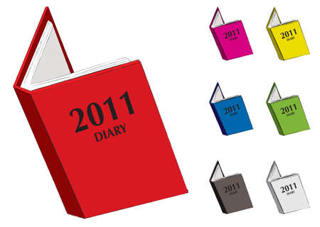 appointment book: Cartoon style diary for 2011 with seven colour variations