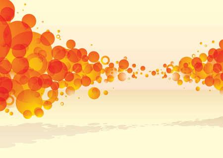 subtle background: orange bubble explode with subtle background and shadow Stock Photo