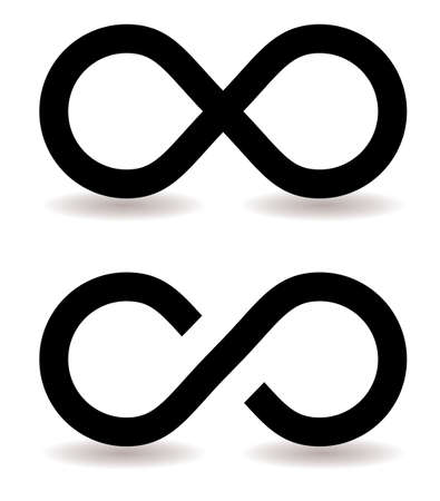 two infinity symbols with shadow ideal web icon photo
