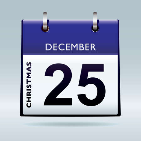 red top christmas icon calendar for xmas day december Stock Photo - 8487907