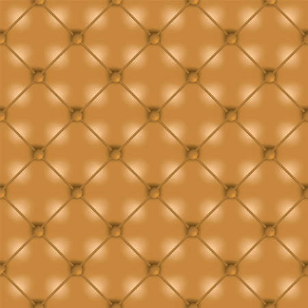 Golden brown leather seamless tile background wallpaper with buttons photo