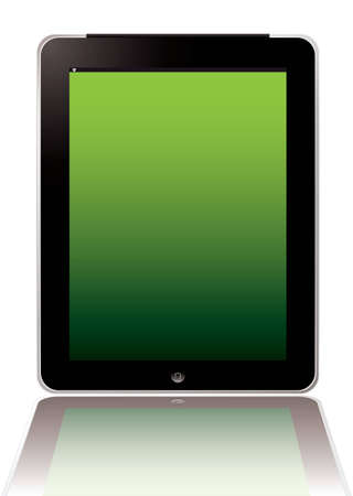 Illustrated computer hand held tablet with blank screen Stock Photo - 9198177
