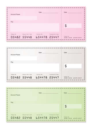 American check payment paper slip with room to add your own amounts photo