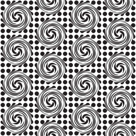 Black and white seamless spot design background with swirls photo