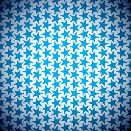 Abstract blue star seamless background with old grunge effect photo
